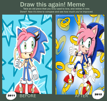 Before and after - Sonic Fan by DiamondRevenge