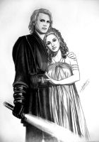 Lord and lady Vader by acrosstars22