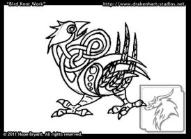 Crow Knotwork ACEO by halfbreed