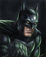 Batman Painting by robertmarzullo