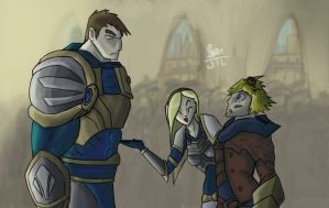 League of Legends Fan Art-Ezreal meets Garen by JackieTeJackal