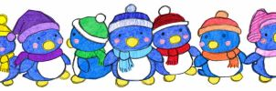 Penguins by Cattype