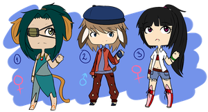 Chibi Adoptable Set #5  -2/3 OPEN- by ReplayLife