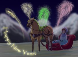 Sleighride into 2013 by saphiraly