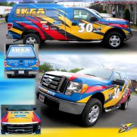 IKEA ford F250 lettering by Samholy
