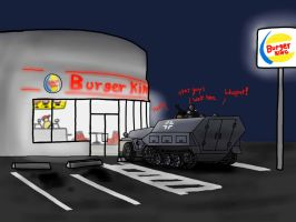 Nazis go to burger King Color by DeSynchronizer