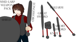 KC622 LARP Weapon Pack by kingchaos622