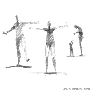 Sketches and Gestures - Mid 2016 by phenoxa