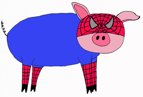 Spider-Pig by TheDisappearingGirl