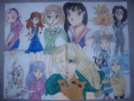 A Melee of Anime Girls by KittyChanBB