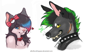 Headshot coms part 1 by FourDirtyPaws