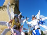 Angewomon and Angemon Cosplay. by LeydaCosplay