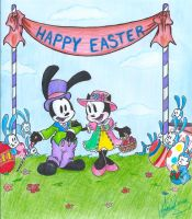 Mr. and Mrs. Easter Rabbit by jackfreak1994