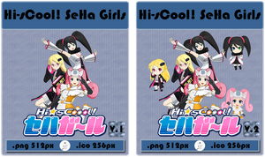 Anime - Hi-sCoool! SeHa Girls - Icon by skywind08