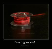 Sewing in red by Fenixfutura-photos