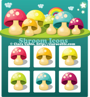 Shroom Icons by ciara-cable