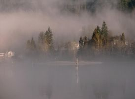 Fog Over Port Moody by Violet-Kleinert