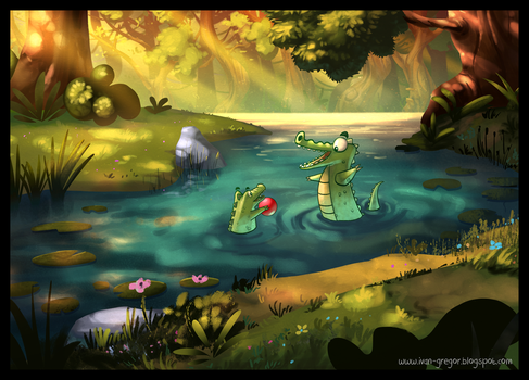 Alligator's Pond by rastafic