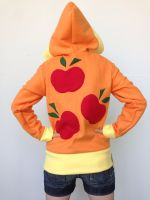 Applejack Fleece Cosplay Hoodie - Back by Weeaboo-Warehouse
