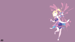 Minerva (Re Zero) Minimalist Wallpaper by slezzy7