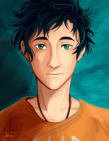 Percy Jackson portrait by alex-29