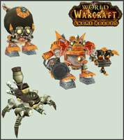 WoW Gnome Robot Cut Outs by atagene