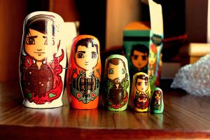 Paramore nesting dolls by blubooelle