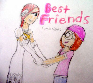 Princess Elise and Meg Griffin by JamiMunji