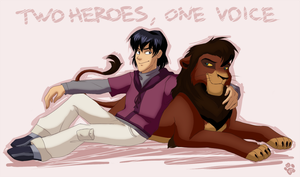 Two heroes, one voice by Mistrel-Fox