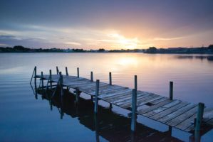 Dock at Dawn stock background by little-spacey