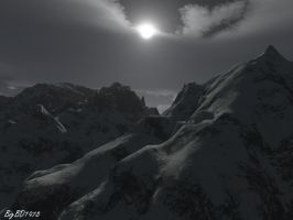 Moonlit Mountains by bigbd1978