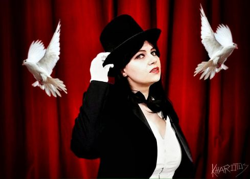 Zatanna cosplay: poster doves by Kharotus