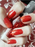 31 Week Nail art challenge: Week 1 Red Nails by LittleAndzia