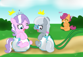 Diapered Tiara and Silver Squish by Hourglass-Sands
