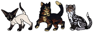 Catties (adopts) by pyxiecat