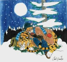 sleeping in the snow by LoD90