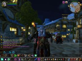 My sister on WoW by Kalix5