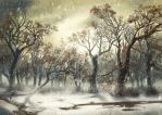 Landscape under the snow by Sa-chan1603