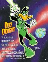 Daffy Duck - Duck Dodgers as a Green Lantern by CharlesEttinger