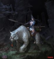 Korean white tiger mount by openanewworld