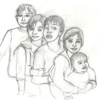 Sibling Sketch by TheQuietWriter
