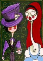 Gothic Alice and Mad Hatter by WoolSocks