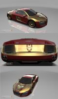 Iron Man Audi R8 by DeadlyPancake