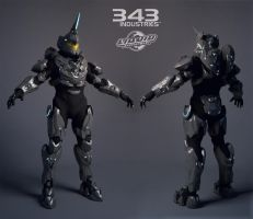 Halo Suit - Fotus - Highpoly by polyphobia3d