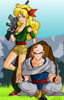 Weekly drawing: Launch and Tien by RinskeR