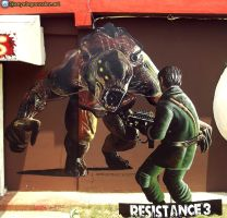 Resistance3 Mural by AnyeloGonzalez