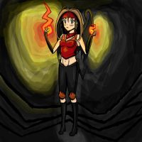 Flame Girl :TOME Fan Art by GenericAnime