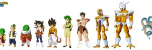 Dragon Ball SQ Segah Saga Character line up by Moffett1990