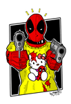 Deadpool and Hello Kitty by BouncieD