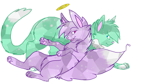 Amethyst and her brother Pip by Raveology